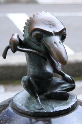 Ками-кири. Статуя на улице Шигеру Мизуки