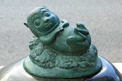 Кудан. Статуя в Сакаиминато, на улице Шигеру Мизуки