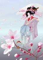Дух вишневого дерева Комати. Автор рисунка Иви Лиззард