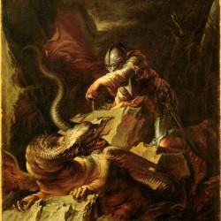 """Картина Сальвадора Розы """"Язон околдовывает дракона"""""""
