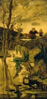 """""""Водяной"""". Картина Гануша Швайгера, 1886 год, Национальная галерея в Праге"""