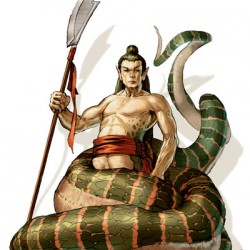 Shinomen-naga. Иллюстрация Мэтта Кавотта (Matt Cavotta)