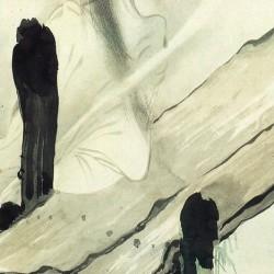 Призрак у мостков. Автор рисунка Сибата Сёин