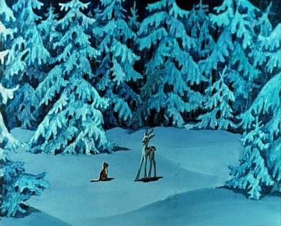 """Серебряное копытце и Мурёнка. Кадр из мультфильма """"Серебряное копытце"""" (1977)"""