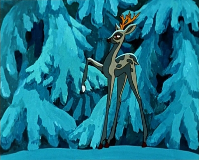"""Серебряное копытце. Кадр из мультфильма """"Серебряное копытце"""" (1977)"""
