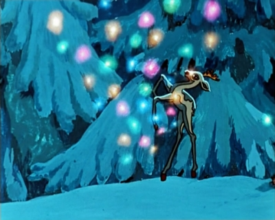 """Серебряное копытце выбивает дорогие камешки. Кадр из мультфильма """"Серебряное копытце"""" (1977)"""