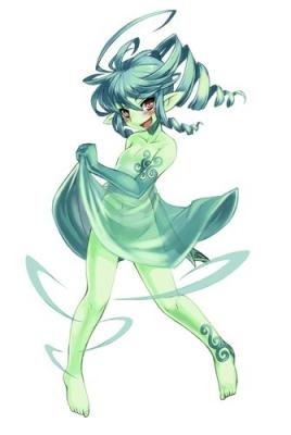 """Сильфа (シルフ). Иллюстрация Кенкоу Кросс из его """"Monster Girl Encyclopedia"""""""