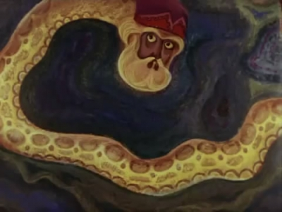 """Великий Полоз. Кадр из мультфильма """"Синюшкин колодец"""" (1973)"""