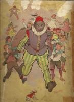 """Чёрный Пит. Иллюстрация Петруса фон Гелдрупа из книги """"Святой Николай и его слуга"""" 1905 года"""