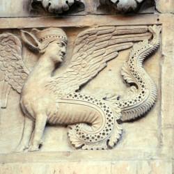 Химерная сирена (барельеф, кафедральный собор Фиденцы, Италия)