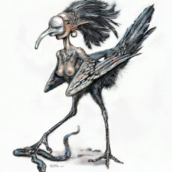 Сирена-гарпия. Иллюстрация Антона Батова