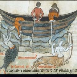 Сирена и онокентавр (Рукопись Британской библиотеки Sloane 278, fol. 47r)