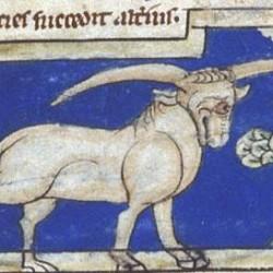 Эал. Рукопись Британской библиотеки (MS Sloane 3544, fol. 12r.)