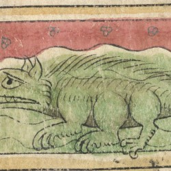 Крокодил. Рукопись Британской библиотеки (MS Sloane 3544, fol. 43r.)