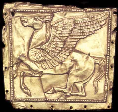 Крылатый конь. Скифская золотая пластина из кургана Чертомлык, IV в. до н. э.