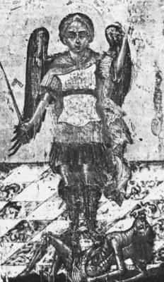 Святой Михаил и Гелло. Византийская (?) икона