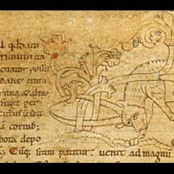 Анталоп. Рукопись Британской библиотеки (MS Stowe 1076, fol. 1v.)