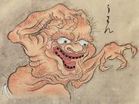 """Уван. Рисунок Саваки Сууси, """"Иллюстрированный свиток сотни демонов"""" 1737 года"""