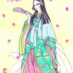 Кицунэ Тамамо-но Маэ. Рисунок Моринэко