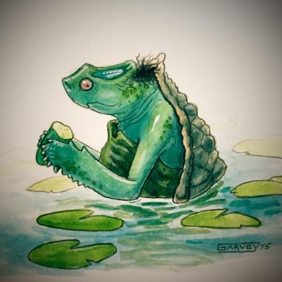 Каппа. Иллюстрация Майка Гарви