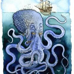 Кракен. Иллюстрация Ричарда Свенссона