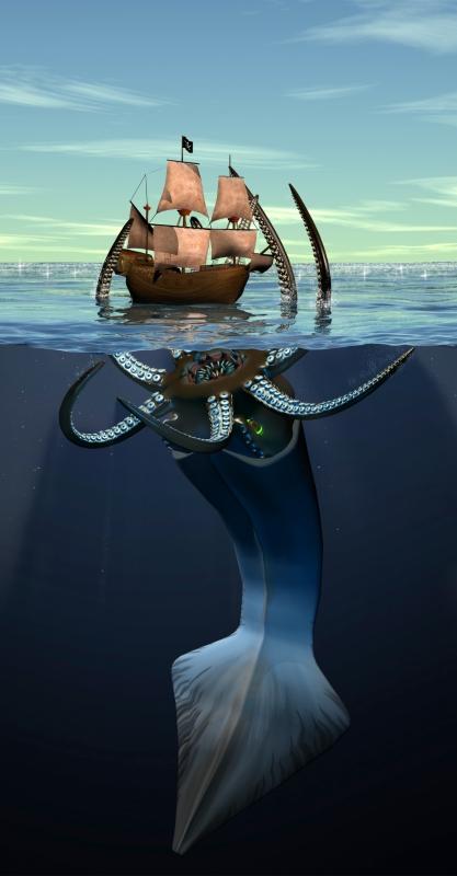 Кракен. Фан-арт от edwinstudio по мотивам ...: http://www.bestiary.us/images/kraken-po-motivam-piratov-karibskogo-morja