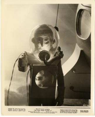"Лобби-карточка к фильму ""Пришелец с планеты Икс"" (The Man from Planet X, 1951)"