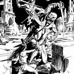 Джон Картер спасает Дею Торес. Иллюстрация Томаса Йетса