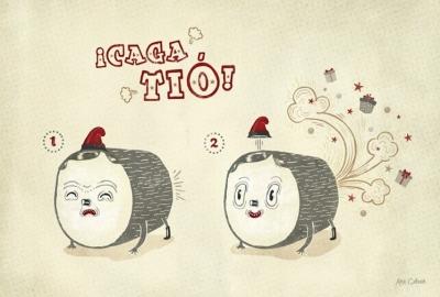 Тио де Надаль. Иллюстрация Аны Галван (Ana Galvan)