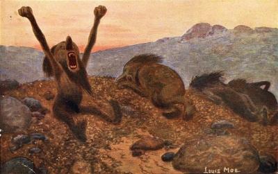 Тролли просыпаются. Художник Луис Мо. Датская открытка 1918 года
