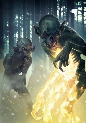 "Мгляки (туманники). Иллюстрация Катаржины Редесюк к ККИ ""Gwent: The Witcher Card Game"""