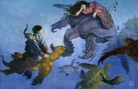 Рыбак Урасима-Таро. Иллюстрация Луиса Узкатэги к японской сказке