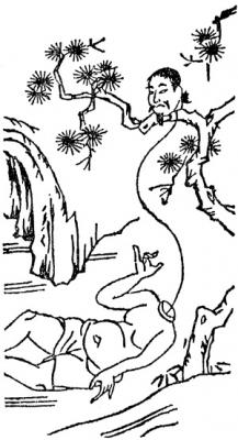 """Хитобан. Рисунок Тэрадзимы Рёана из японского энциклопедического словаря периода Эдо """"Вакан сансай дзуэ"""" (1712)"""