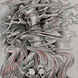 Богун Упас (Bohun Upas). Иллюстрация Ивана Онякова к бестиарию Сапковского