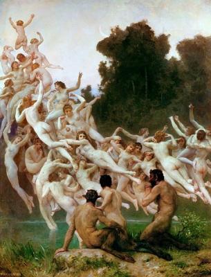 Ореады. Картина Адольфа Вильяма Бугро (1902)