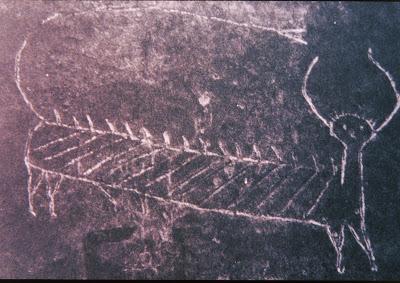 Водяное существо. Наскальный рисунок племени виннебаго