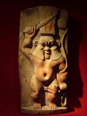 Стела с изображением бога Бэса. Египет, Эллинистический (птолемеевский) период, IV век до н.э. – I век н.э.