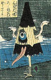 Изображение каса-обакэ эпохи Эдо