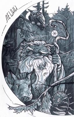 Леший. Иллюстрация Andy Wendigo (O-Zimina)