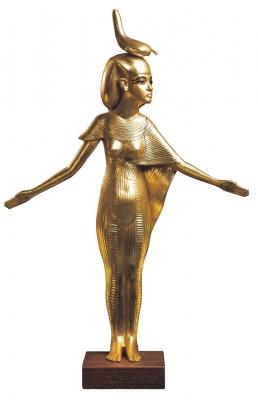 Современная скульптура богини Серкет. Реплика статуи Селкет из гробницы Тутанхамона