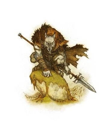 Вервольф (Vargman, Wolfman). Иллюстрация Юхана Эгеркранса