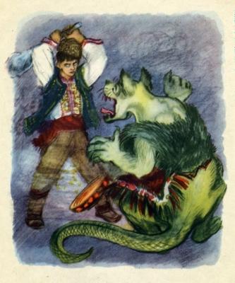 Ламя. Иллюстрация Александры Якобсон к болгарской сказке