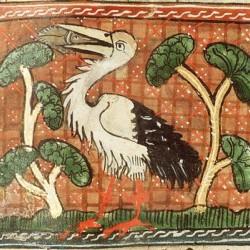 """Аист. Изображение из трактата """"Цветы природы"""" Якоба ван Маэрланта"""
