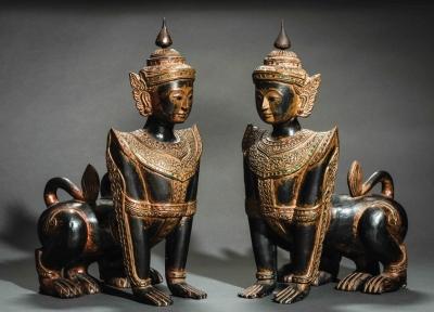 Бирманская пурушамрига-манутиха. Статуэтки первой половины ХХ века