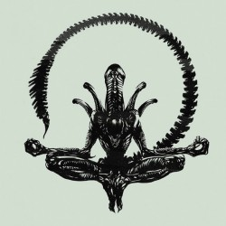 Alien, lotus position. Art by Leonid Bloommer