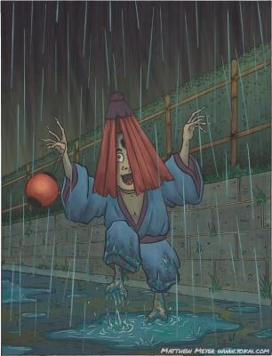 Амэфури-кодзо. Иллюстрация Мэттью Мэйера
