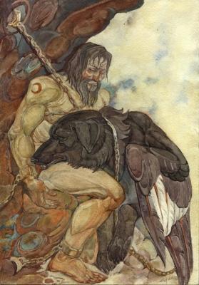Амирани и Курша. Рисунок Светланы Игнатовой
