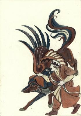 Амираниани. Эскиз обложки от Светланы Игнатовой