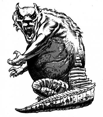 Амт из бестиария AD&D. Иллюстрация Марка Нельсона