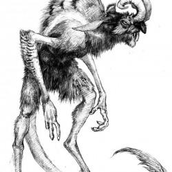 Анчутка. Рисунок Алексея Монжалея
